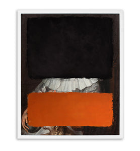'Colours - Black & Orange' Original Painting by Young & Battaglia with Kirin Young