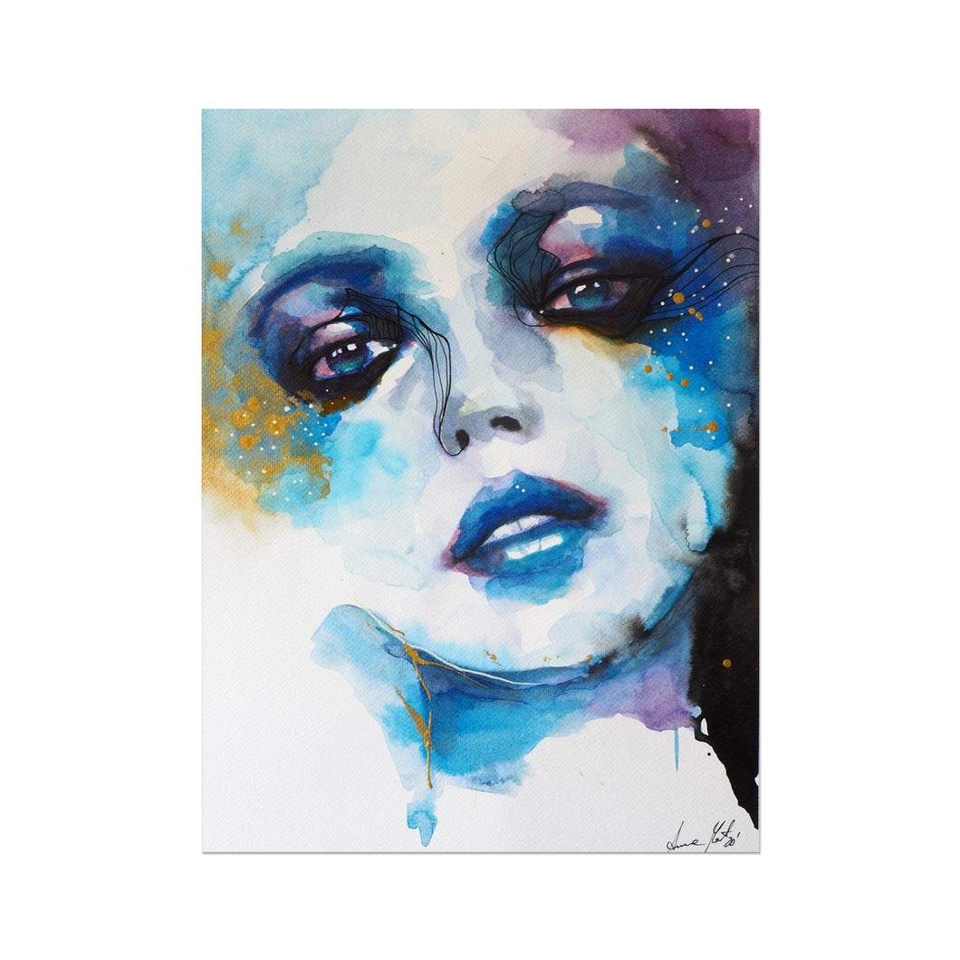 Blue Abyss | Blue Acrylic Art Print | MGallery, MGallery is the best way to find the Acrylic Portrait Art UK for decorating your bedroom. We have a beautiful collection of Blue Acrylic Art, Buy now!-mgallery