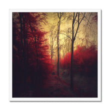 Load image into Gallery viewer, 'Ruby Red Forest' by Dirk Wüstenhagen Framed Print