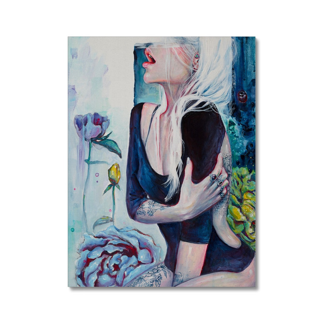 In Her Garden | Acrylic Portrait Art | Mgallery, Acrylic Portrait Arts for Sale online! Add a beautiful style to your home with our amazing Acrylic Portrait Paintings, all at best prices and worldwide shipping!-mgallery