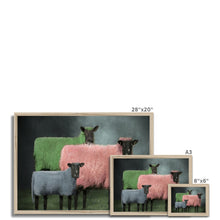 Load image into Gallery viewer, Sheep Portraits | Animal Portrait Contemporary Art | MGallery, Animal Portrait Contemporary Arts for you! Find a wide range of elegant Bright Coloured Animal Portrait Prints at MGallery. Delivered ready to hang.-mgallery