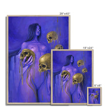 Load image into Gallery viewer, Neon Midas | Beautiful Woman Art | Mgallery, This Beautiful Woman Art is printed on premium fine art paper with high-quality wood frames of black, white or natural finish. -mgallery