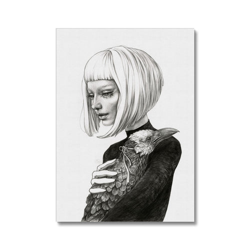 Black Raven | Black And White Portrait Canvas | Mgallery, Create your unique gallery wall with Black and White Portrait Canvas! MGallery offers you a beautiful and quality portrait artworks and worldwide shipping available..-mgallery