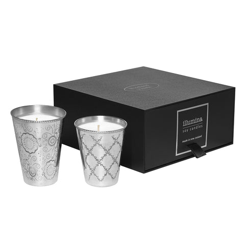 Silver Soy Candle Gift Set by Illumina