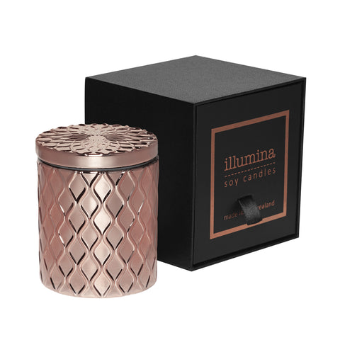 Limited Edition Rose Gold Soy Candle by Illumina