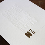 'NZ Alphabet' Contemporary Art Print From Christina Koot