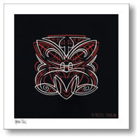 Pinstripe Hero Tiki - By Otis Frizzell - Paper Print from Image Vault