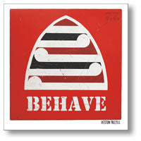 Red Behave - By Weston Frizzell - Paper Print from Image Vault