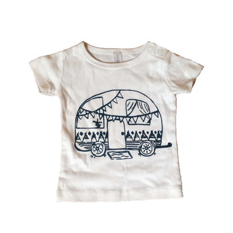Gypsy Camper Baby T Shirt by Elephant & Bird