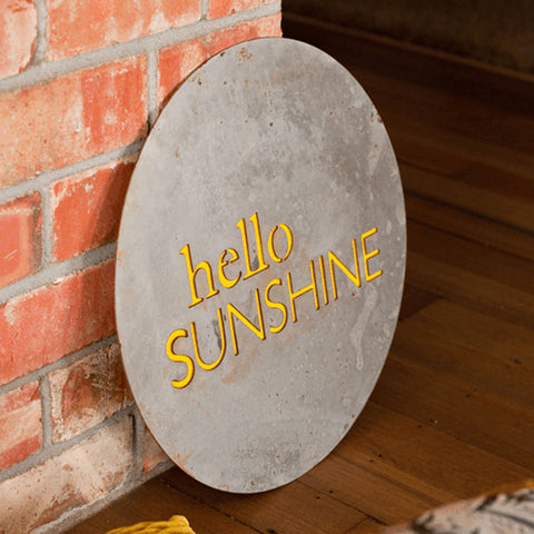 Hello Sunshine - Steel Art by Lisa Sarah
