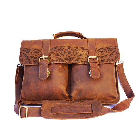 Kiwiana Leather Laptop Bag from ARCA Apparel