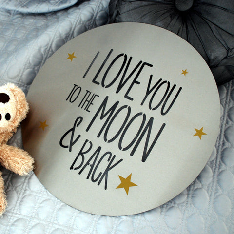 I Love You To The Moon And Back - Steel Art from Lisa Sarah