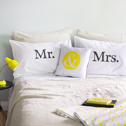 The Art Room ~ Mr & Mrs Pillow Cases
