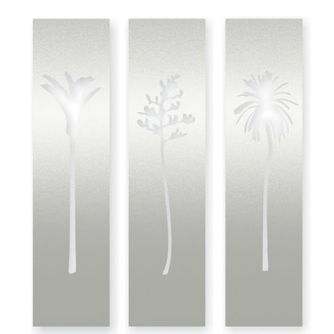 NZ Natives Triptych - Stainless Steel Art from Lisa Sarah