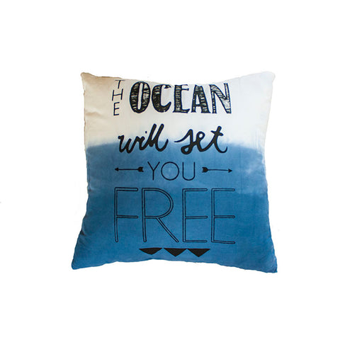 Navy Ombre Ocean Cushion From Elephant & Bird