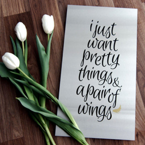 I Just Want Pretty Things And A Pair Of Wings - Steel Art by Lisa Sarah