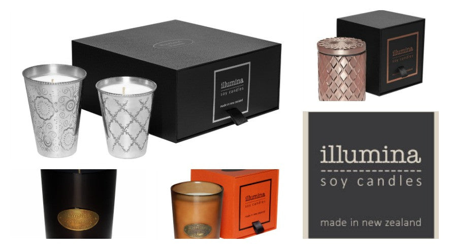 Beautiful, safe and divinely-scented soy candles from Illumina Soy Candles