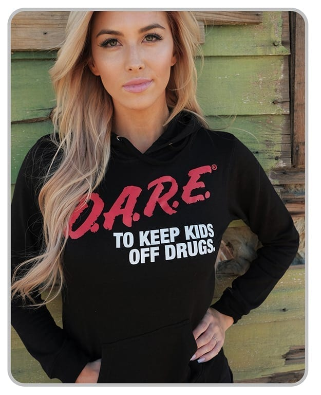 Discontinued - 50% off  - D.A.R.E. x MatchBack Womens Black Hoodie