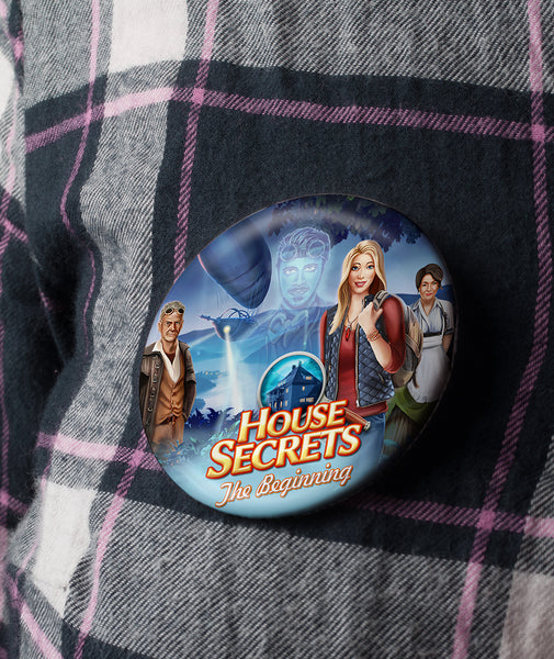 House Secrets Pinback-Button