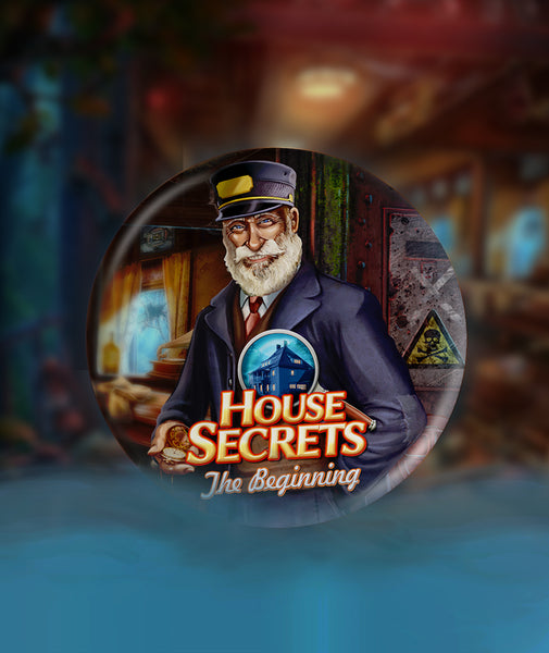 House Secrets Railway Man Pinback-Button
