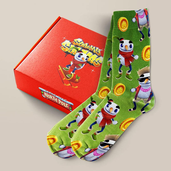 Subway Surfers Holiday Socks