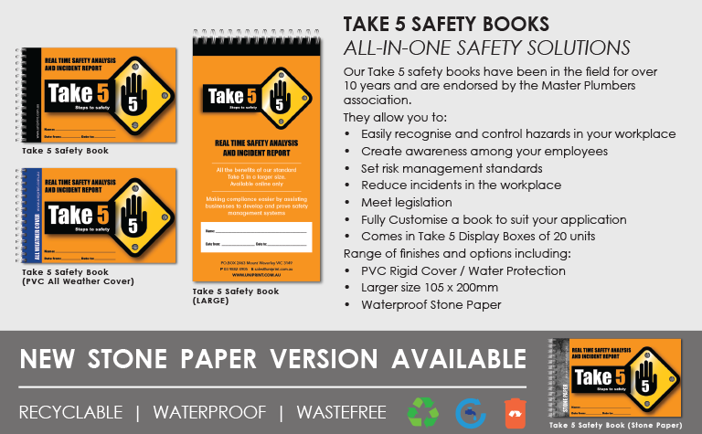 Take 5 Safety Books