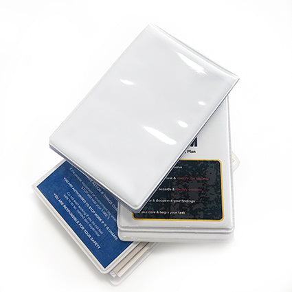 Hard White PVC Covers - Take 5