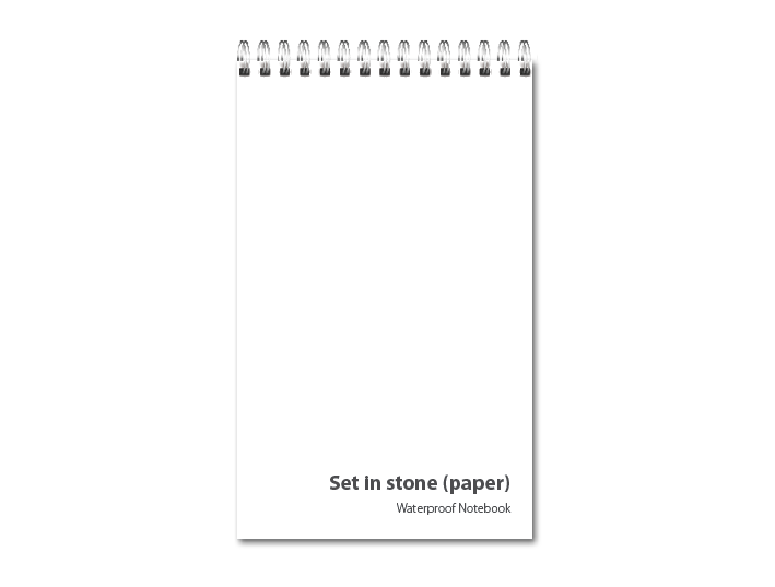 Set in stone (paper) <b><br>Waterproof Notebooks</b>