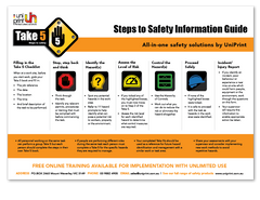 Take 5 Steps to Safety Poster