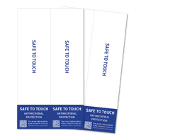 Antimicrobial Safe to Touch door handle decal (4 per pack)