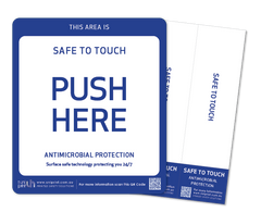 Antimicrobial Safe to Touch (push & pull) door decals (set of 2)