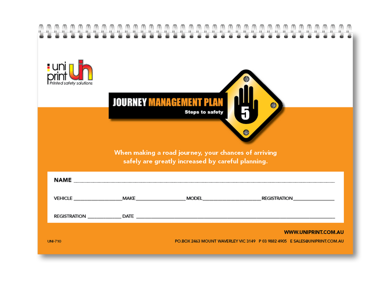 Journey Management Plan Uniprint Checklist Book