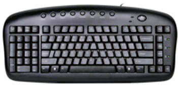A4Tech Left Handed Keyboard (4124) - Free Shipping - ergoKomfort