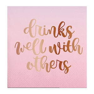 DRINKS WELL WITH OTHERS NAPKINS
