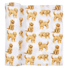 Load image into Gallery viewer, DOODLE DOG MUSLIN SWADDLE BLANKET
