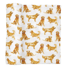 Load image into Gallery viewer, GOLDEN MUSLIN SWADDLE BLANKET