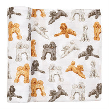 Load image into Gallery viewer, POODLE MUSLIN SWADDLE BLANKET
