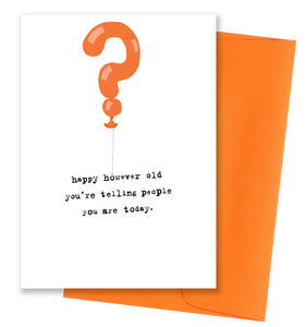 However old Birthday Card