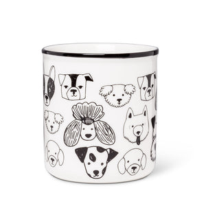 Simple Dog Faces Mug