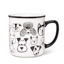 Load image into Gallery viewer, Simple Dog Faces Mug
