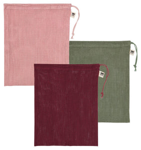 Blush Le Marché Produce Bags - Set of 3