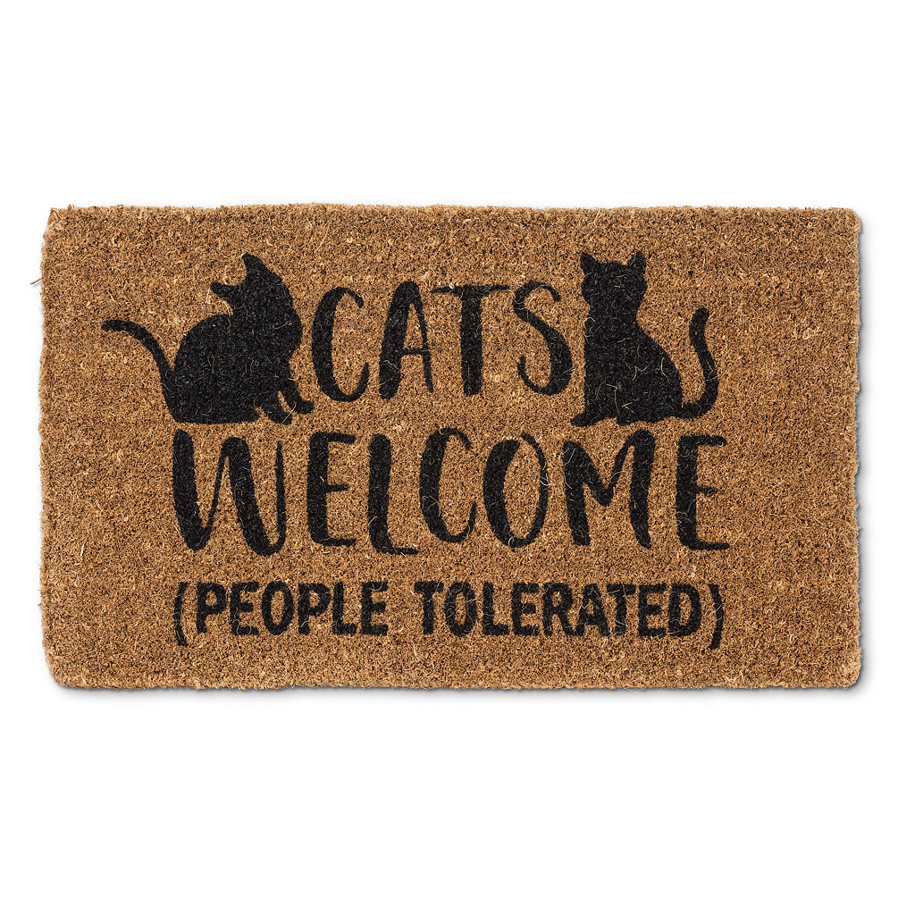 Cats Welcome (People Tolerated) Doormat
