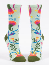 Load image into Gallery viewer, STOP TALKING - WOMEN CREW SOCKS