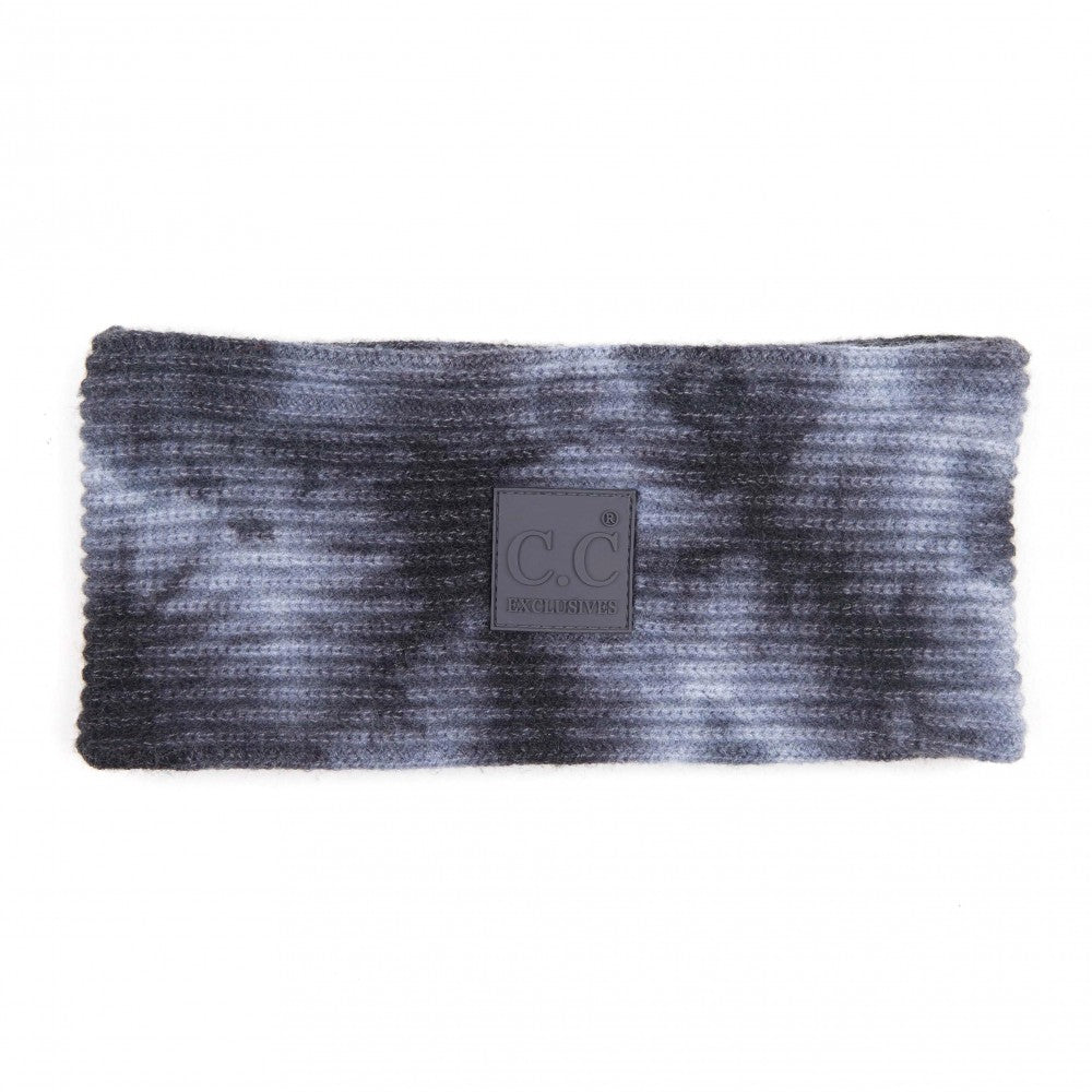 C.C. Tie Dye Head Wrap - Dark Grey/Light Grey