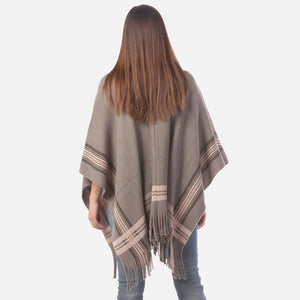 Grey Knit Wrap/Ruana