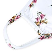 Load image into Gallery viewer, Ivory Floral Print T-Shirt Cloth Face Mask