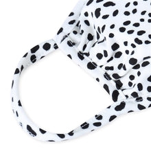 Load image into Gallery viewer, Ivory Dalmatian Print T-Shirt Cloth Face Mask with Filter Insert.