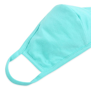 Dark Mint Solid Color T-Shirt Cloth Face Mask with Seam