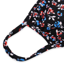 Load image into Gallery viewer, KIDS Red, White & Blue Floral T-Shirt Cloth Face Mask