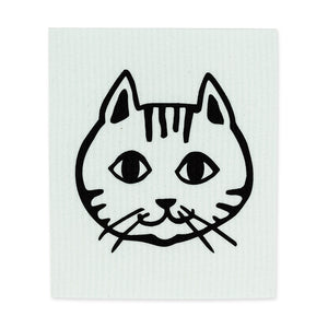 Cat Face Dishcloths. Set of 2